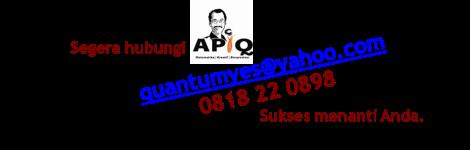 Segera kontak APIQ