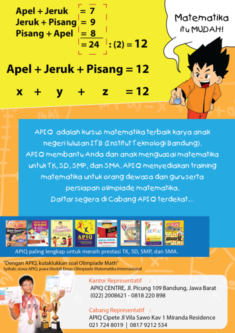 Training dan kursus matematika asyik