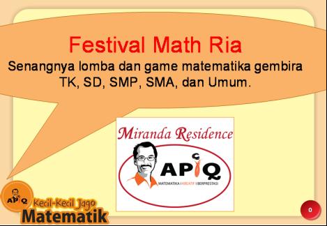 Kompetisi matematika kreatif APIQ