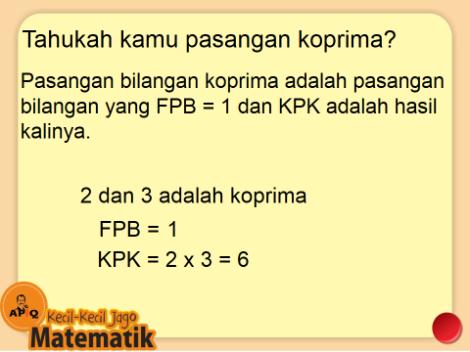 Berhitung Cepat FPB KPK Koprima APIQ