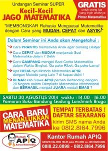 Seminar Kecil2 Jago Matematika