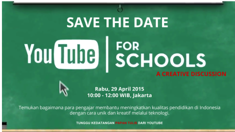 YouTube Edu SAVE THE DATE